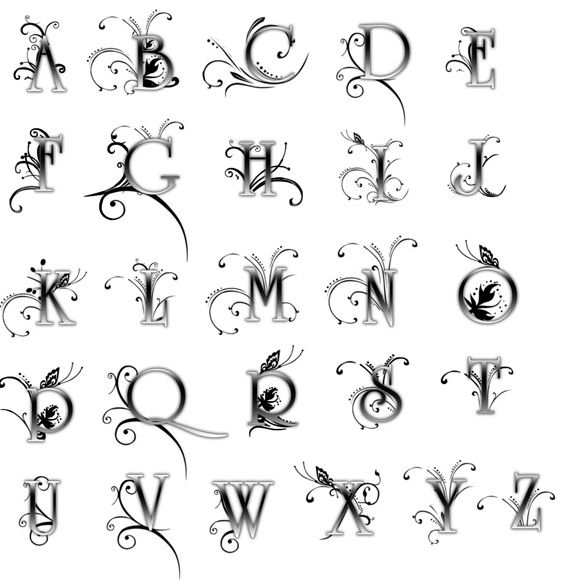 Beautiful Fonts For Tattoos Girly Alphabet Letters Girly