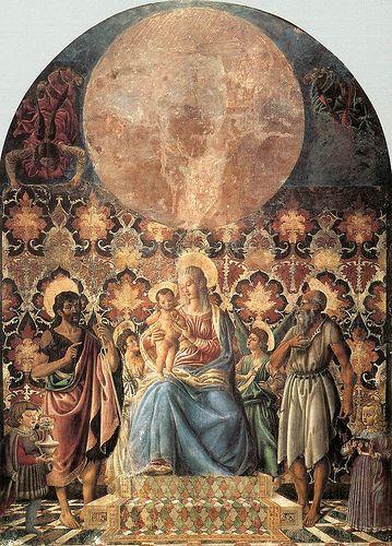 (Madonna and Child with Saints)  ANDREA DEL CASTAGNO Andrea di Bartolo di Bargilla detto Andrea del Castagno (Castagno, 1421 circa – Firenze, 1457)   #TuscanyAgriturismoGiratola
