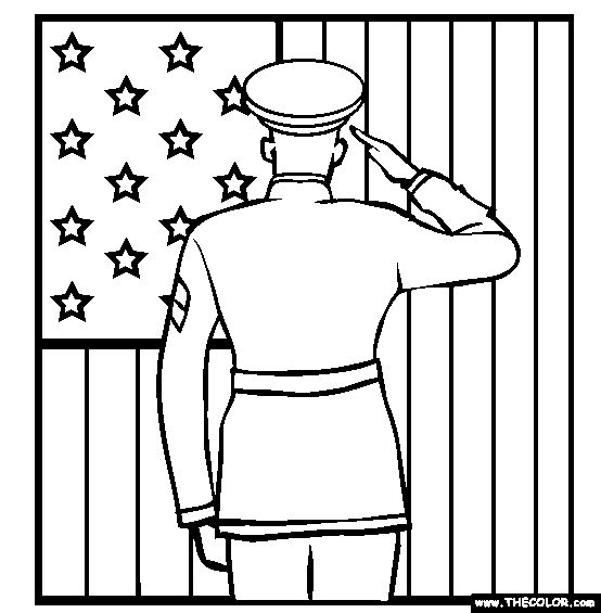 independence day coloring pages printable soldier | Veterans Day Online Coloring Pages | Page 1