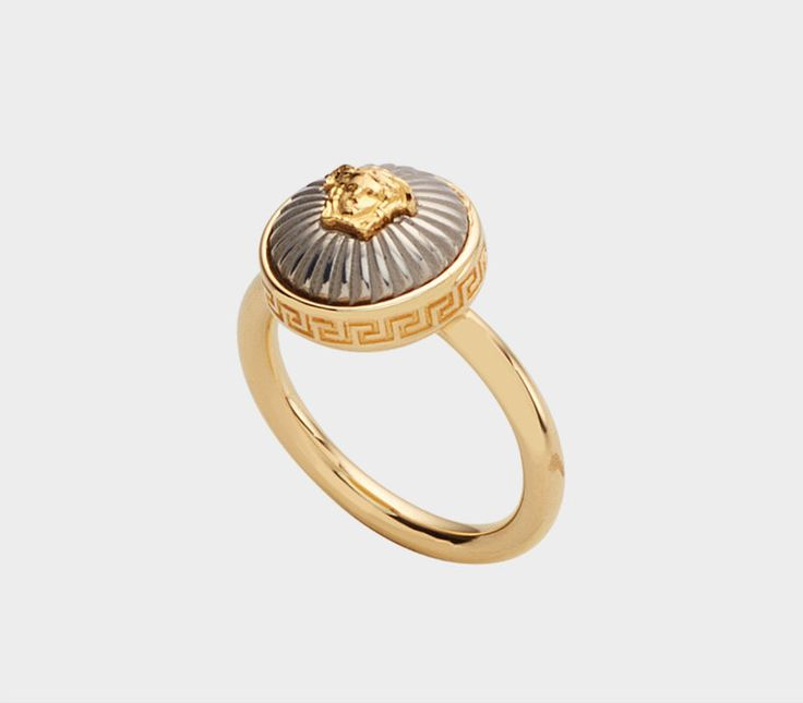 Contrast Medusa Ring by Versace ➤ Discover more luxury lifestyle news at www.covetedition.com @covetedition #covetedmagazine @covetedmagazine #luxurylifestyle #versace #jewellery @versaceofficial