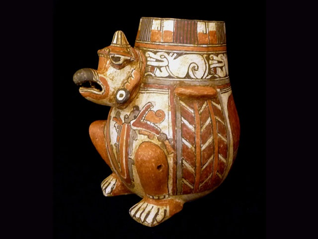 #pre #Columbian #pottery: King vulture vessel from #Costa Rica