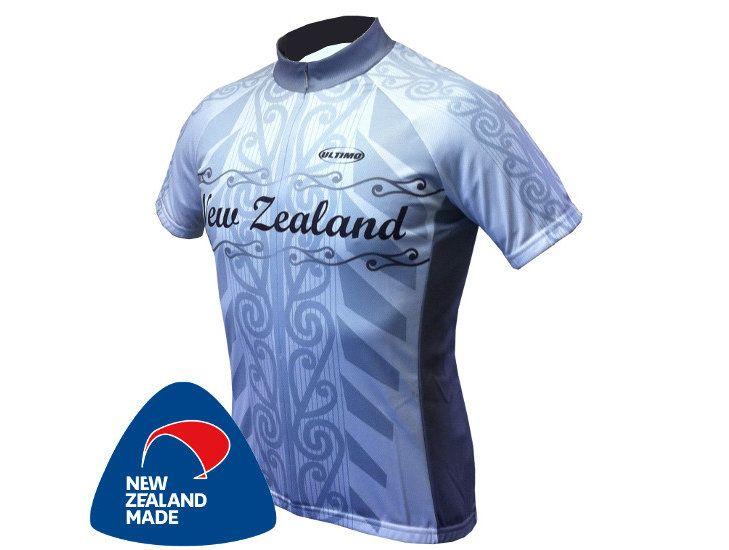 NZ Cycle Jersey - White Kiwi Made | Ultimo Custom Clothing