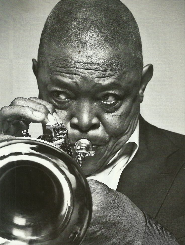 "Hugh ""Bra Hugh"" Masekela. Mr Trumpeter! What he does best! Love his sound."