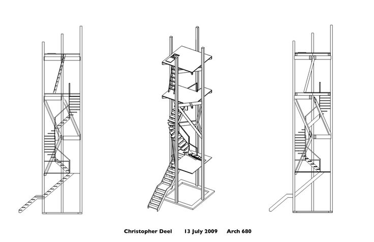 axonometric stairs
