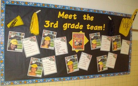 Meet the team bulletin board- great idea for beginning of year/back to school night!