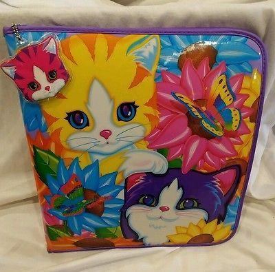 Lisa Frank Notebook Trapper Keeper Binder Rainbow Kittens & Butterflies