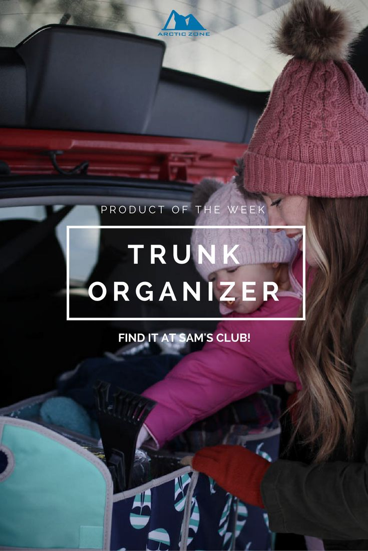 This trunk organizer has three compartments for securing loose items and a leak-proof insulated cooler that fits in one of the compartments