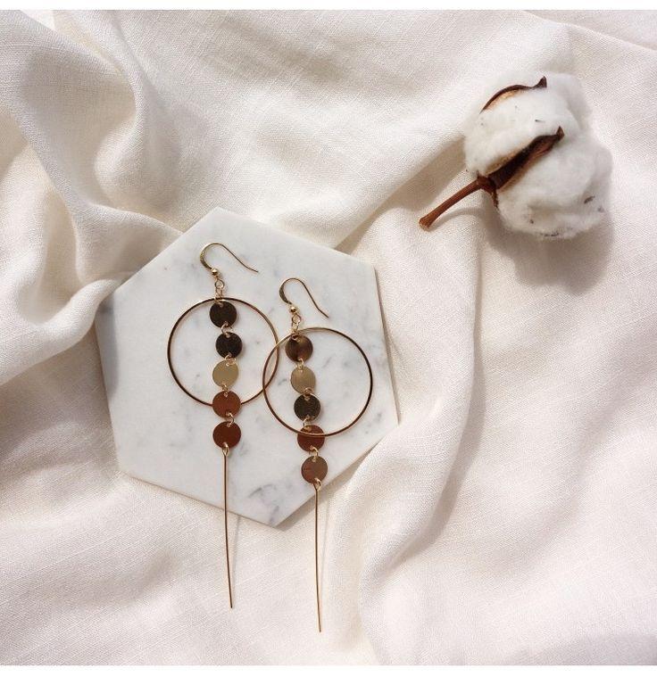 2017 Fashion Jewelry Metal Bling Bright Drop Danger Earrings Chain Circle Long For Women Pendiants