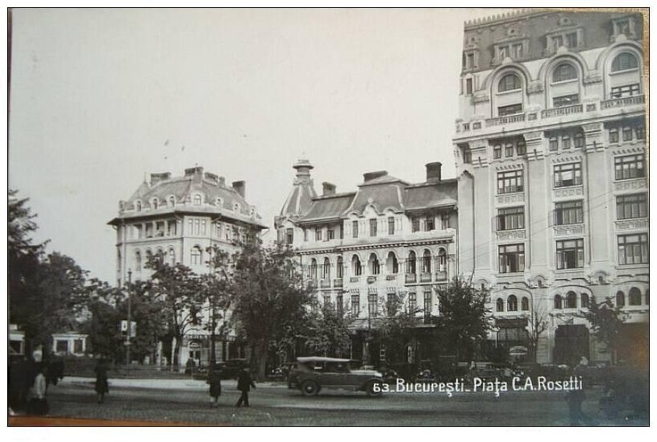 Bucuresti - Piata C.A.Rosetti - interbelica