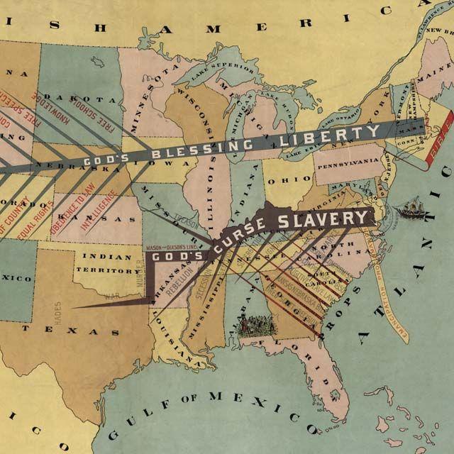 John F. Smith's anti-slavery #map (1888) - http://www.bigmapblog.com/2012/john-f-smiths-anti-slavery-map-1888/