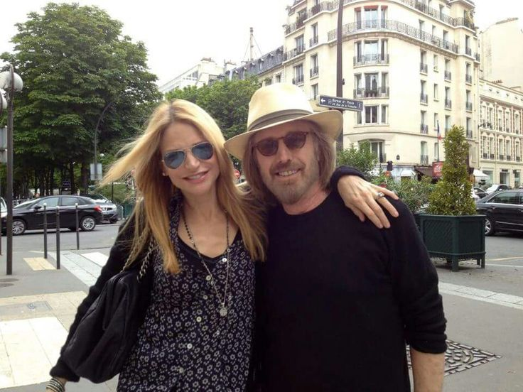 Tom Petty and his wife, Dana, in Paris.