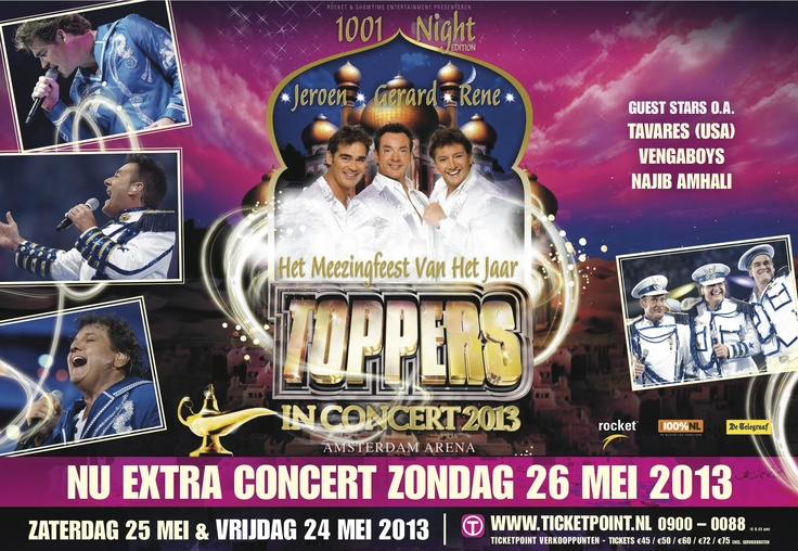 Toppers in Concert, 24/25/26 mei.