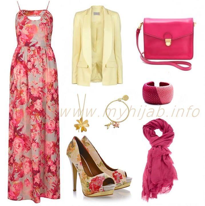 Floral Maxi Dresses Combination Ideas