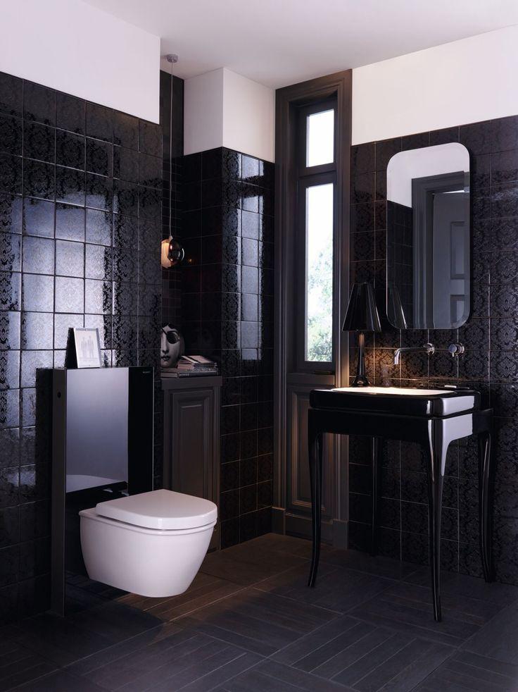 Inspírate con el diseño de este baño Geberit. Una propuesta muy especial con la innovadora cisterna vista Geberit Monolith.