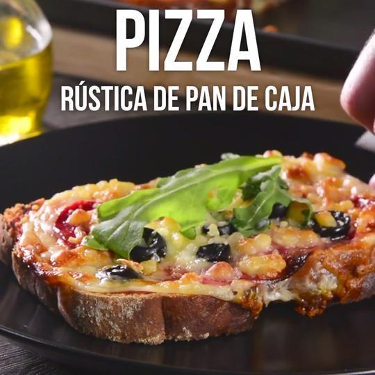 Video de Pizza Rústica de Pan de Caja