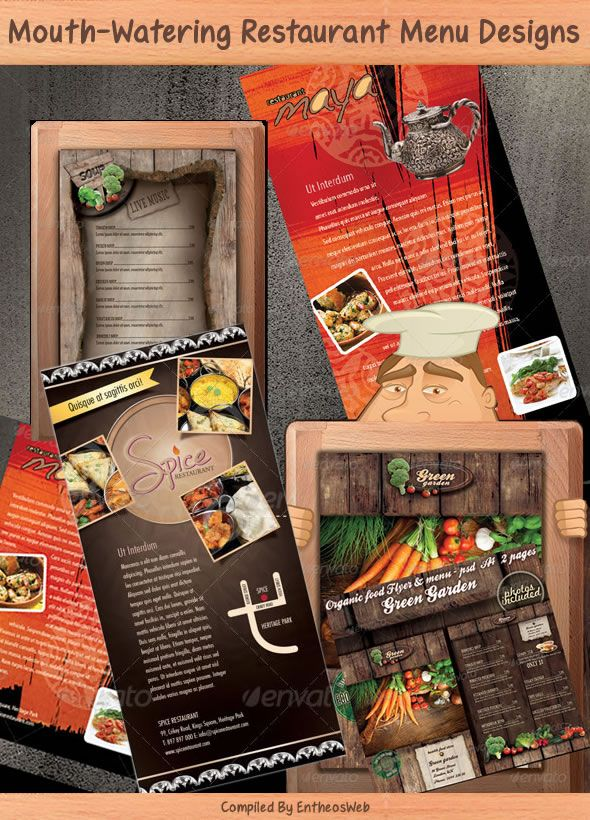 Mouth Watering Restaurant Menu Designs
