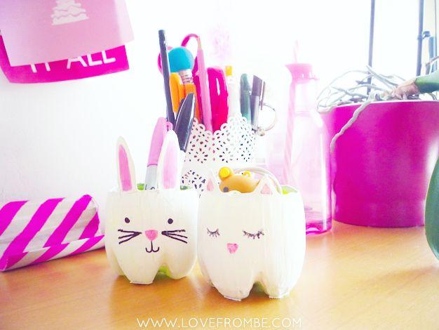 #DIY project: #bunny penholder from #plasticbottles