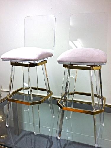 charles hollis jones lucite bar stools 1970u0027s mid century modern eames panton - Lucite Desk