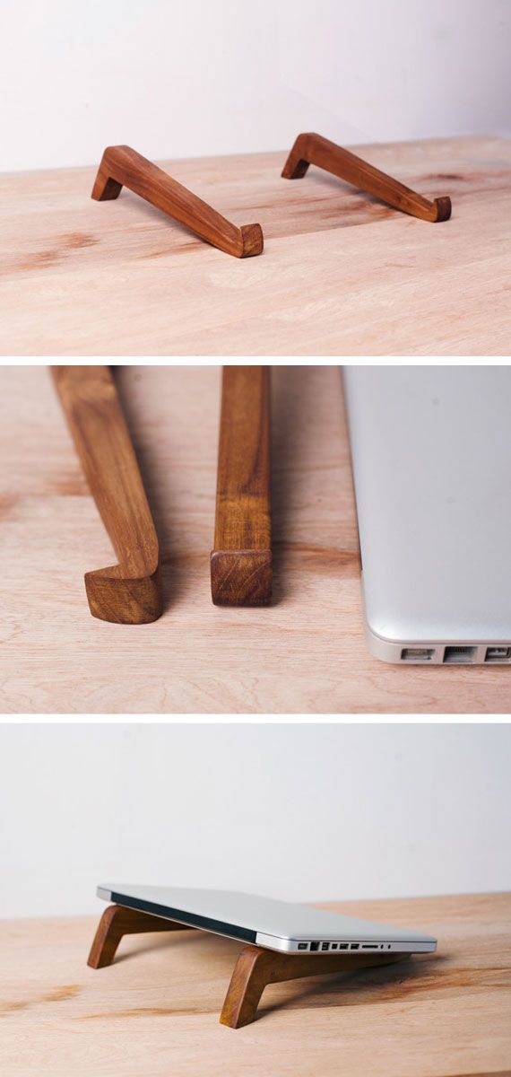 Sleek and sustainably-sourced, these laptop feet by MasayaTradingCompany on Etsy are also affordable – ringing in at just under $30. #EtsyFinds