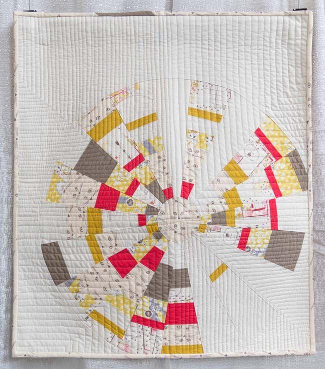Almost Purr-fect by Kathleen Robertson, 2015 | The Modern Quilt Guild. Made with Cattitude fabric and an 18-degree wedge ruler.