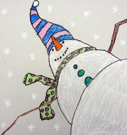 "Artsonia Art Museum :: Artwork by Brooke2331  From exhibit ""Worm's Eye View of a Snowman"" by Brooke2331 (Art ID #22052571)  from Cedar Creek Elementary— grade 3  United States"