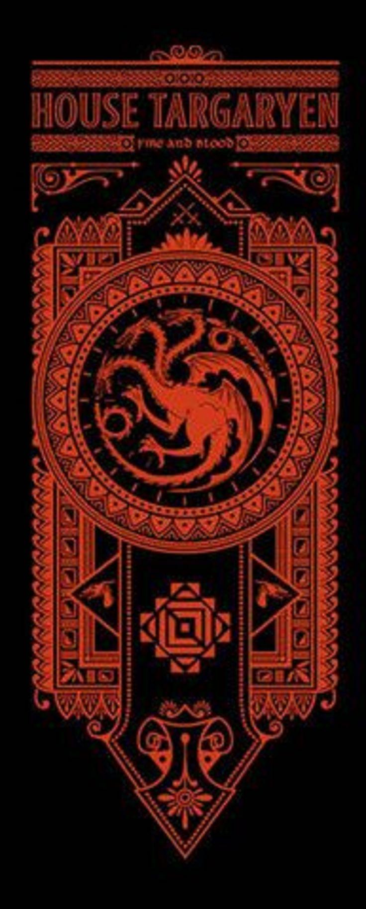 Таргариен — королевская династия валирийского происхождения, умеющая повелевать драконами. Правили Вестеросом на протяжении почти трехсот лет. В ходе восстания Роберта Баратеона были свергнуты. Характерными чертами являются красота, сиреневые, индиговые или фиолетовые глаза, серебряные или платиновые волосы. Чтобы сохранить чистоту валирийской крови браки заключались внутри семьи или брали жен валирийского происхождения.