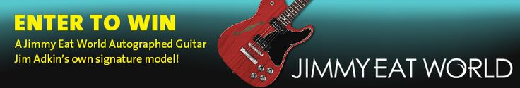 Enter Now - Jimmy Eat World autographed guitar