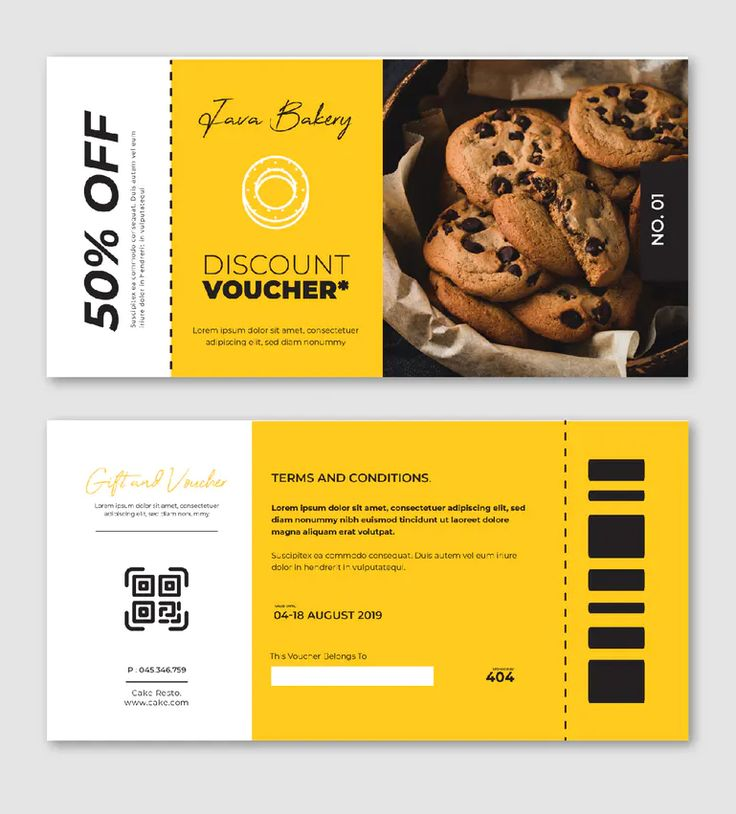 Food coupon template ai vector eps in 2020 coupon