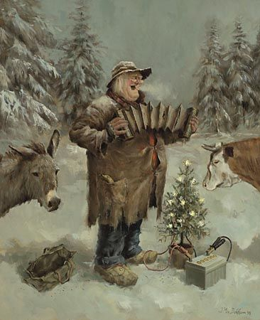 """Silent Night"" ... by Marius van Dokkum - Dutch Artist and Illustrator"