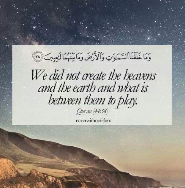 Quran 44:38