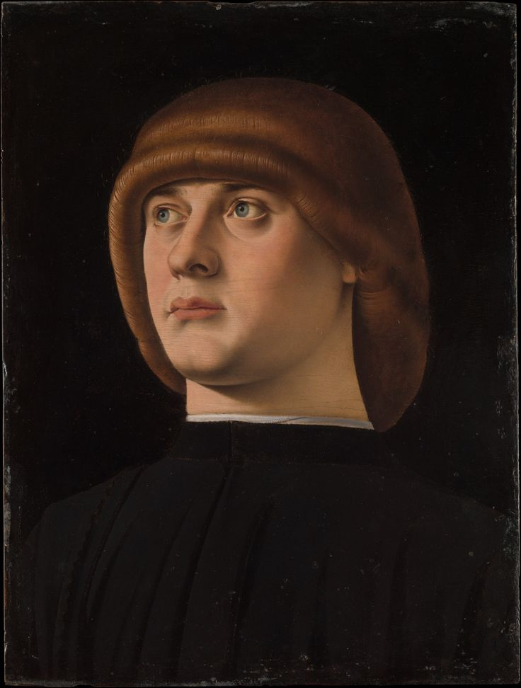 Portrait of a Young Man  Artist:Jacometto (Jacometto Veneziano) (Italian, active Venice by ca. 1472–died before 1498)  Date:1480s  Medium:Oil on wood  Dimensions:11 x 8 1/4 in. (27.9 x 21 cm)  MMA