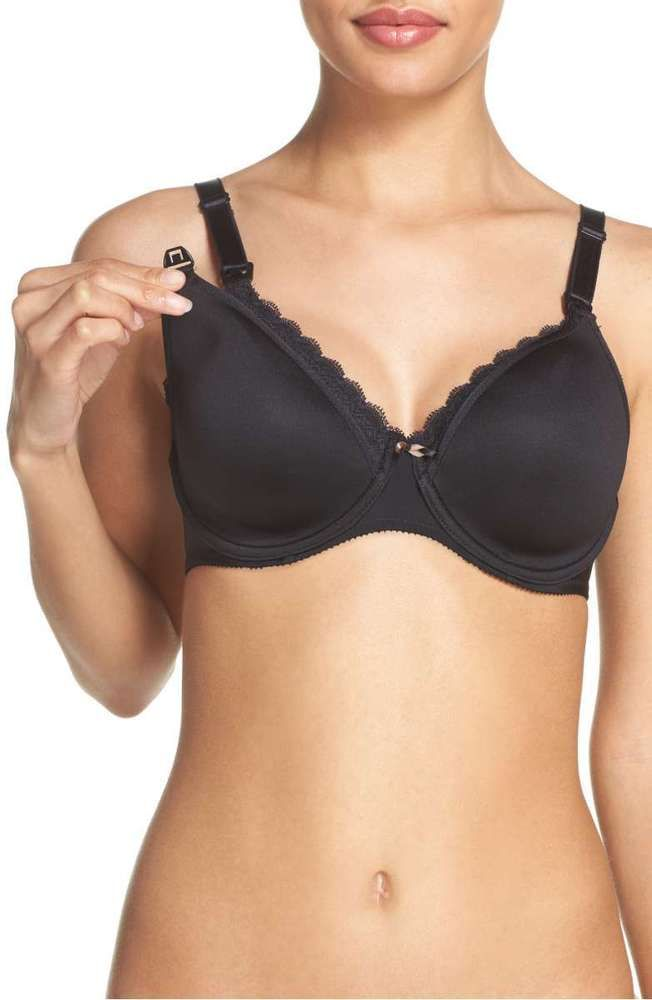 684fce8e3 NWT Chantelle 1871 Underwired Spacer Nursing Bra  235 BLACK 36DD ...