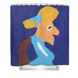 Patrick Francis - Shower Curtain featuring the painting Portrait Of Adeline Ravoux 2014 - After Vincent Van Gogh by Patrick Francis