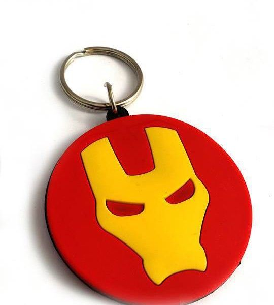 IRON MAN rubber key-chain at best price on max4shop