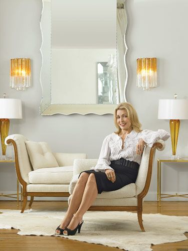 Daniele Tete A And Wavy Edge Mirror From The Jan Showers Collection