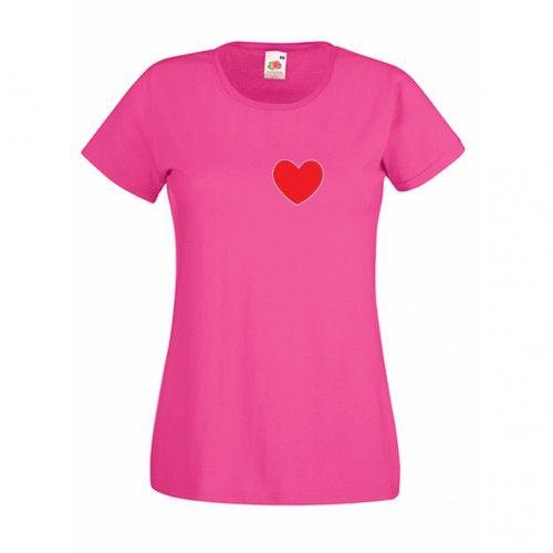 Tricou Te iubesc ... cu numele lui Tricou personalizabil cu o inima si mesaj care poate fi modificat. Tricou pentru cei care vor sa faca o declaratie de dragoste. Tricouri personalizate.