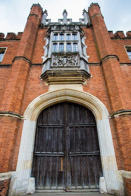 Towering entrance to Hampton Court