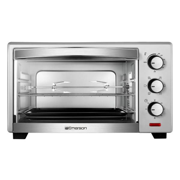 Emerson 1380 W 6 Slice Stainless Steel Convection Toaster Oven