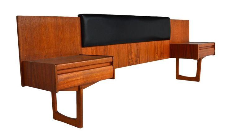 Mid century teak bedroom set by g plan danish modern retro for Vintage danish modern bedroom furniture