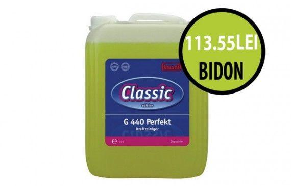 O curatare industriala profesionala!  La fiecare bidon de detergent Perfekt la 10 L beneficiezi de pretul de 113.55 lei/bidon + TVA! Asta inseamna o reducere de 45% de la pretul de lista.