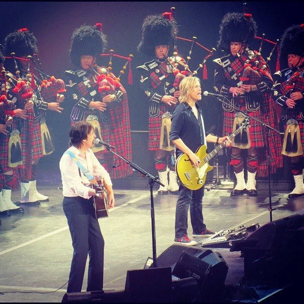 @michinthemedia  The @edmontonpolice Pipes & Drums... Oh and @paulmccartney