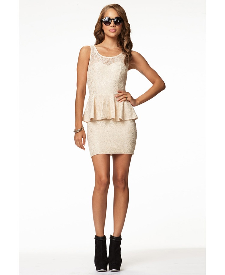 Lace Peplum Dress | FOREVER21