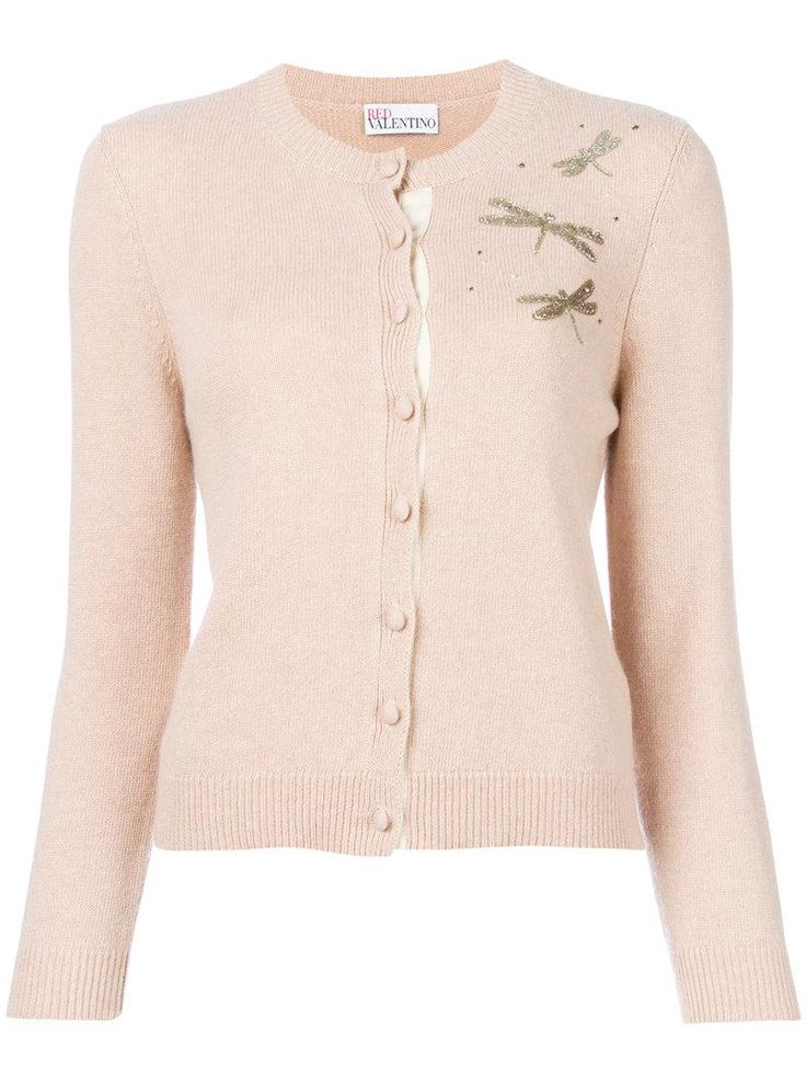 Buy RED Valentino Women's Pink Beaded Dragonfly Detail Cardigan, starting at €425. Similar products also available. SALE now on!