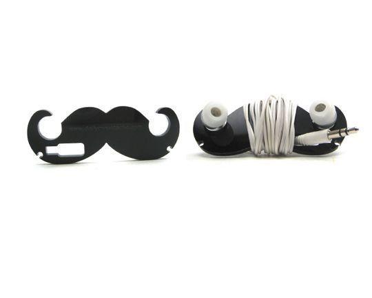 Moustache ear bud holder