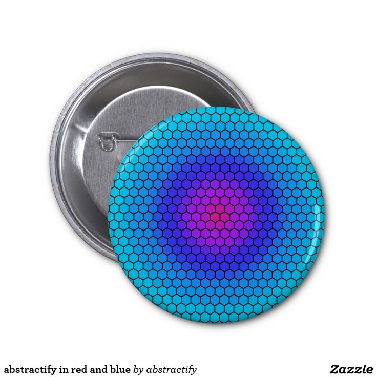 abstractify in red and blue 2 inch round button