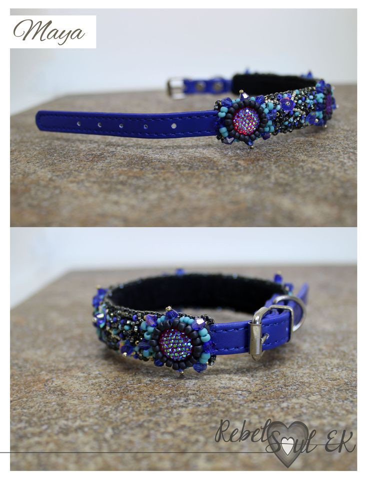 Cat collar, Embroidery for Pets, Dog Collar, Pet Accessories, adjustable collar, sparkle collar, Pet Neckwear, blue cat necklace