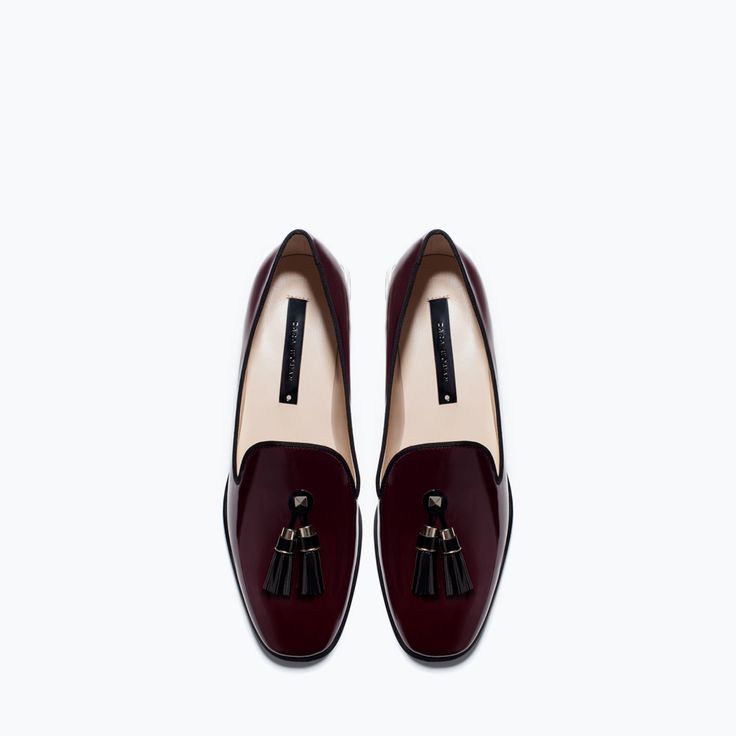 Glossy flat shoes- so chic, and the color is perfect. make these the