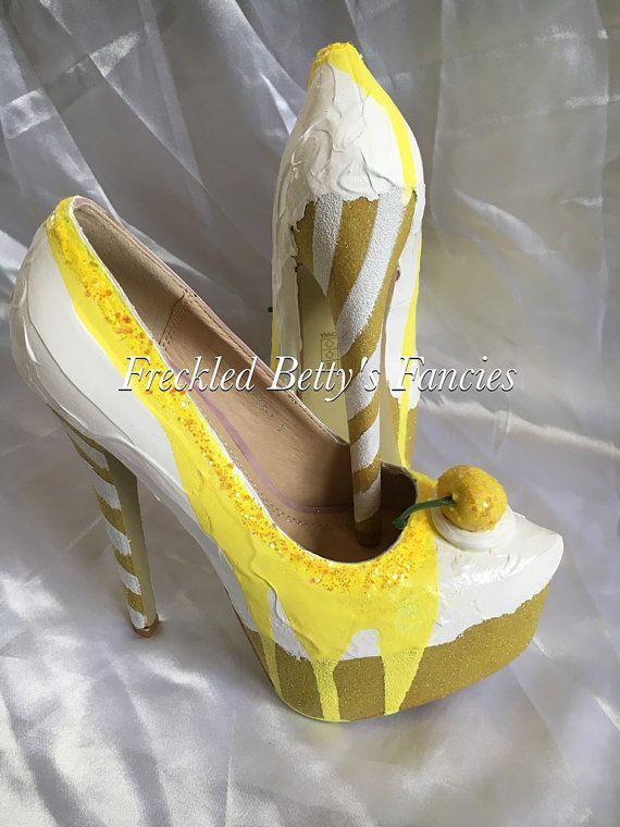Lemon Slushy Ice cream shoes drippy sauce by FreckledBettysFancys