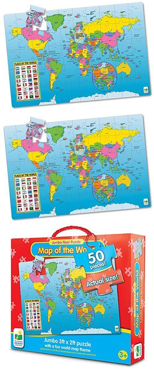 Storage Mats and Glue 180021: The Learning Journey Jumbo Floor Puzzles Map Of The World, New -> BUY IT NOW ONLY: $32.44 on eBay!