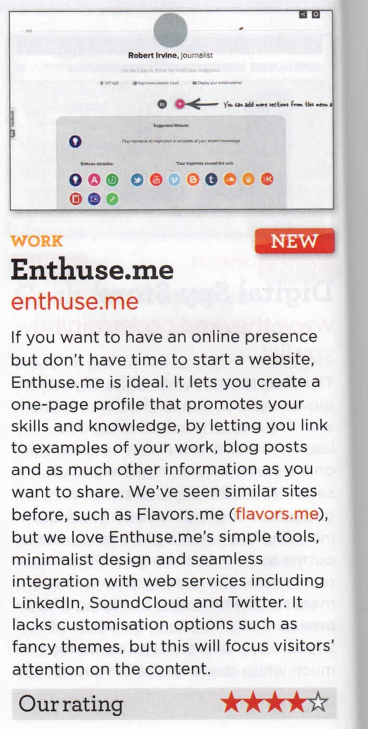 Great enthuse.me review in webuser magazine (UK) 04/04/13  Thanks!